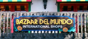 Bazaar Del Mundo Shops wooden sign