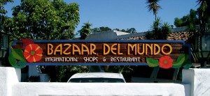 Bazaar Del Mundo Wooden Sign