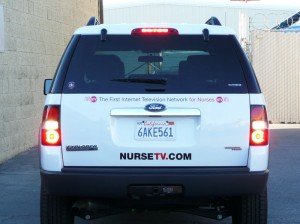 Nurse TV vehicle graphic rear
