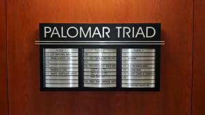 Palomar Triad Lobby Directory