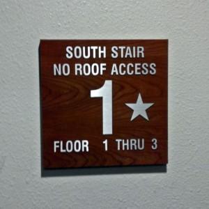 Palomar Triad Stair Access Sign