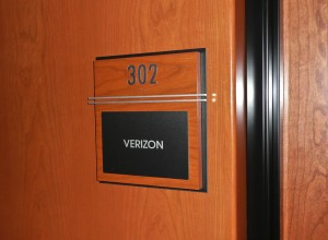 Verizon suite at Palomar Triad Sign
