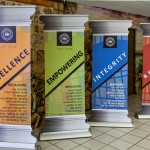 Custom cut banner stands